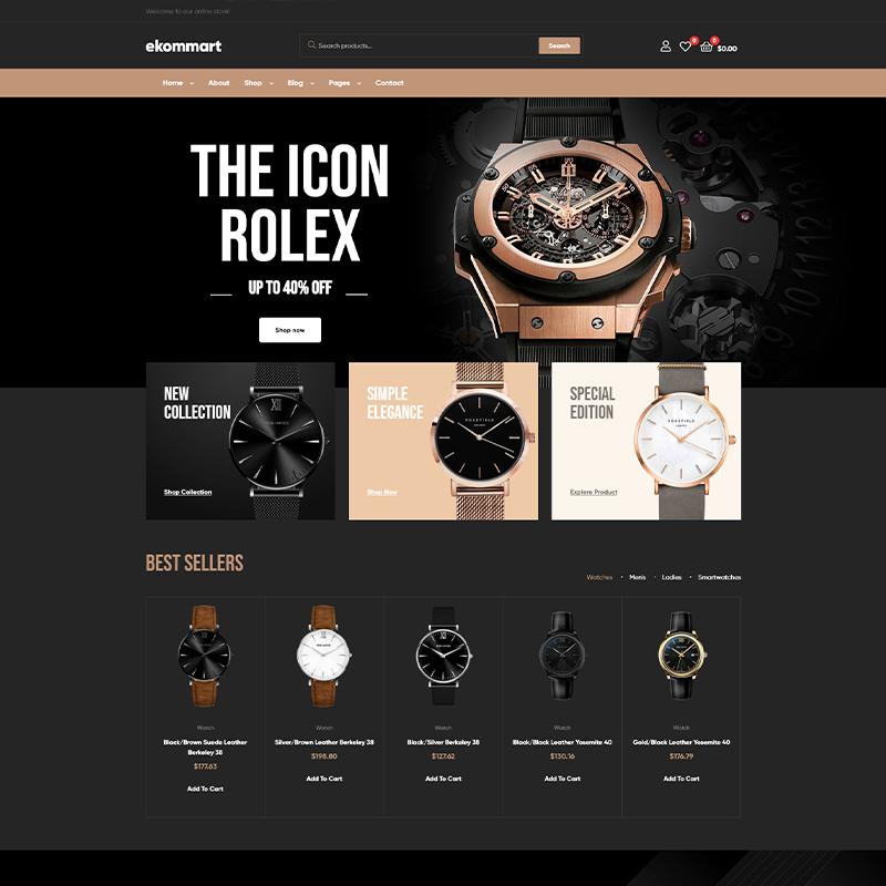 Ekommart | Tema WordPress para Relojerías
