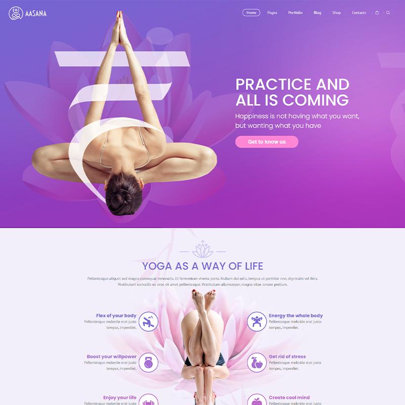 Plantilla WordPress Premium Yoga Aasana