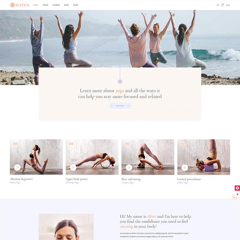 Tema WordPress Hatha Yoga