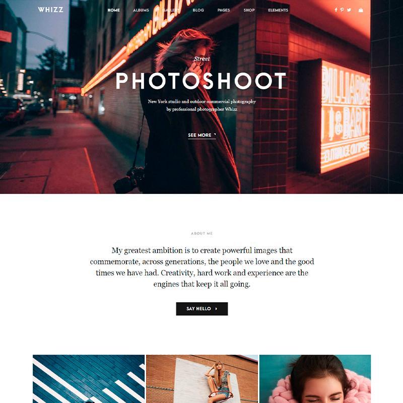 Tema WordPress para estudios fotográficos 2020