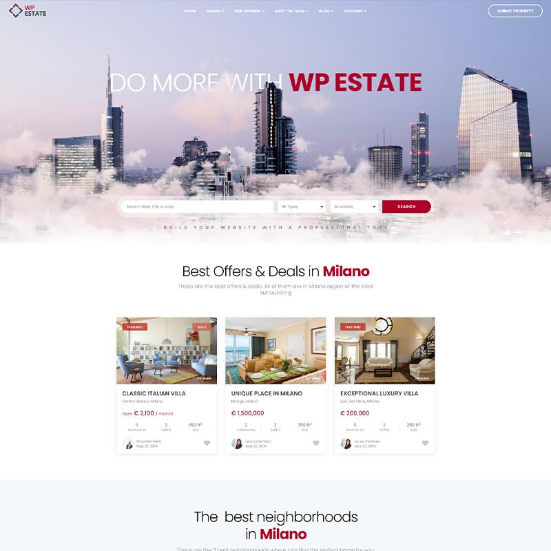 WP Estate - Plantilla Webs de Promotoras Inmobiliarias