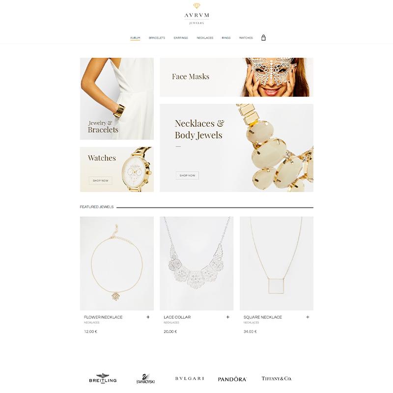 Aurum | Plantilla WordPress Joyerías
